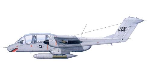 OV-10A Bronco, 20º Escuadrón de apoyo aéreo táctico, Danang, Vietnam, 1969.