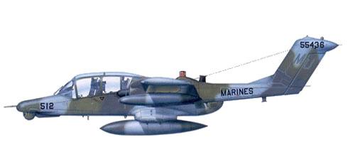 OV-10D+ asignado al VMO-4, reserva de los USMC, base en NAS Atlanta, Georgia, 1994.