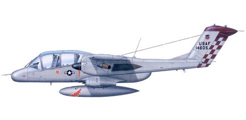 Rockwell OV-10 Bronco, 549 TASTG, 1er. Ala de Operaciones Especiales, 1980.