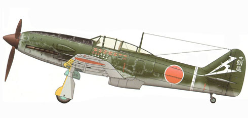 Kawasaki Ki-61-II-Kai Hien, 19º Regimiento, 3er. Escuadrón, Capitán Fudzitaro Ito, Japón, 1945.