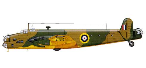 Handley Page Halifax, 2º prototipo, antes de instalar torretas y armamento.