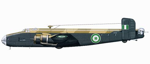 Handley Page Halifax A Mk.IX, Egyptian Air Force, 1950.