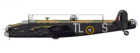 Handley Page Halifax B.II Serie 1, 35º Escuadrón, Royal Air Force, Febrero de 1942.