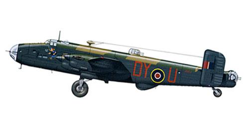 Handley Page Halifax B.II Srs 1A, perteneciente al 102º Escuadrón, RAF, 1943.
