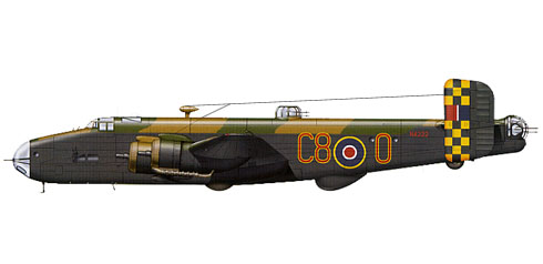 Handley Page Halifax B.III, 640º Escuadrón, Royal Air Force, 1945.