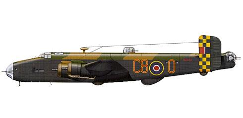 Handley Page Halifax B.III, 640º Escuadrón, Royal Air Force, 1945.
