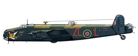 Handley Page Halifax B.V Serie 1, 247º Escuadrón, RCAF, 1943.
