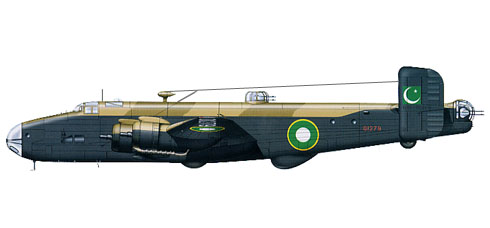 Handley Page halifax B.VI, 12º Escuadrón, Pakistan Air Force, 1949.