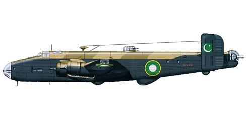 Handley Page halifax B.VI, 12º Escuadrón, Pakistan Air Force, 1949.