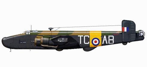 Handley Page Halifax B.VI, Escuela de Navegación, French Air Force, 1945.