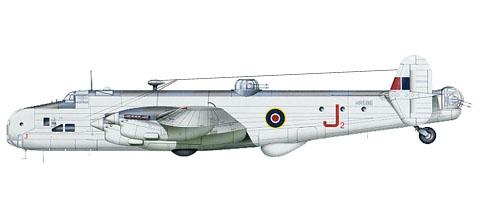 Handley Page Halifax GR.II Serie 1, 502º Escuadrón, Royal Air Force, 1944.