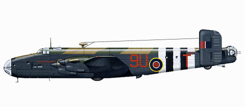 Handley Page Hlifax B.V Serie A1, 644º Escuadrón, Royal Air Force, 1944.