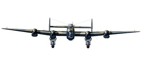 Vista frontal de un Handley Page Halifax