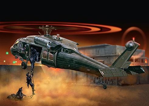 Ataque nocturno de un Sikorsky UH-60 Black Hawk.