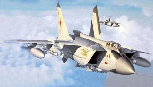Caza de interceptación aérea pesado MIG-31 Foxhound, Fuerza Aérea Rusa,