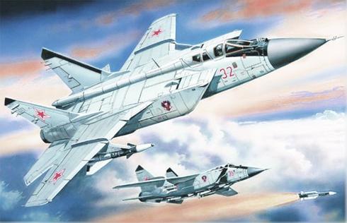 Dos Mikoyan-Gurevich MIG-31 B Foxhound, Fuerza Aérea Rusa, 1998.