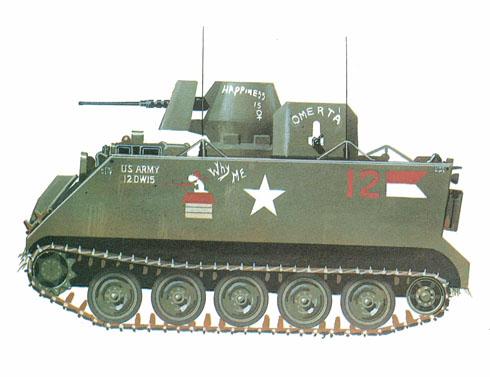 M113 ACAV, 1er. Escuadrón, 10º de Caballería, Vietnam, 1972.