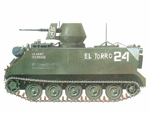 M113 ACAV, 3er. Escuadrón, 4º de Caballería, Vietnam, 1969.
