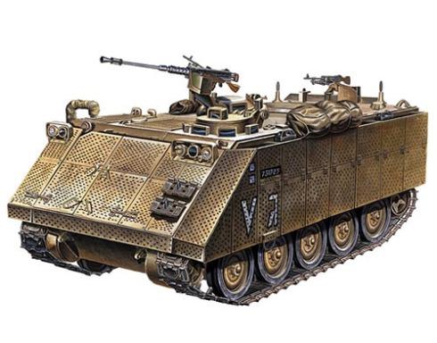 M113 Israelí con blindaje adicional.