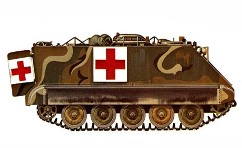 M113A1 ambulancia, ejército de los Estados Unidos, Alemania, 1974