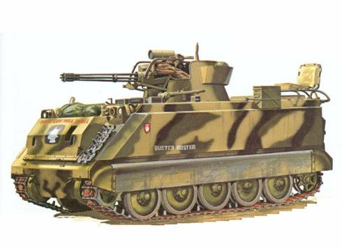 M163 VADS Vulcan Air Defense System, Vehículo de Defensa Antiaérea, equipado con un cañón M168 Vulcan.