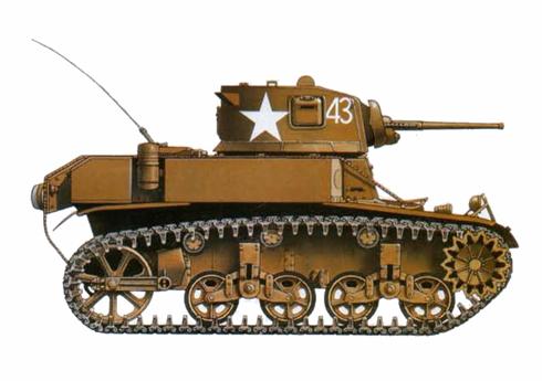 M3 A1 Stuart, Compañía C, 193º Batallón de tanques, Red Beach, Butaritori, Atolón de Makin, 1943.