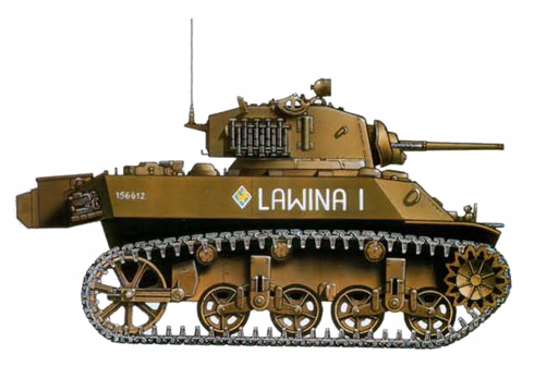 M3 A3  Stuart V, 6º Regimiento Acorazado, 2ª División Acorazada Polaca, Italia, 1945.