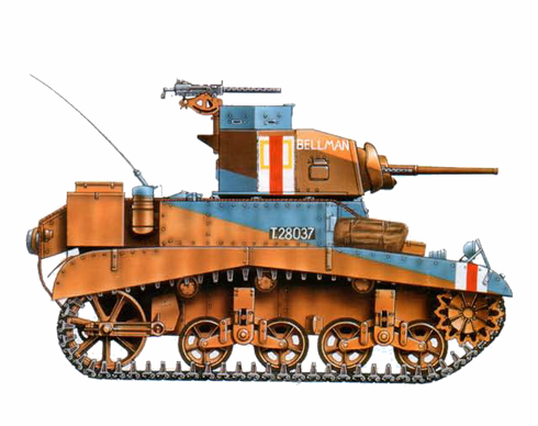 M3 Stuart-Honey, 7ª División Acorazada, Bir-Hakeim, Libia, 1942.