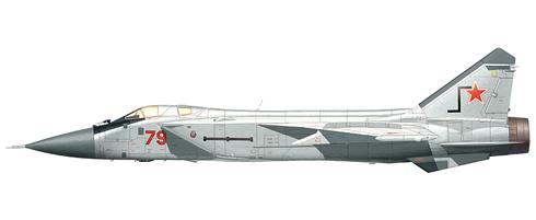 MIG-31 LL Foxhound, caza de prueba de asientos ejectables, Fuerza Aérea Rusa.