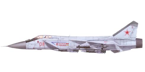 MIG-31 nombrado Boris Safonov, en memoria del heroe soviético muerto en combate en la Segunda Guerra Mundial.