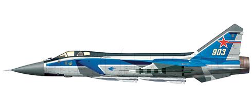 Mikoyan-Gurevich MIG-31 E Foxhound, fuerza Aérea Rusa, Moscú, 1999.