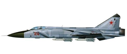 Mikoyan-Gurevich MIG-31 Foxhound, Fuerza Aérea Rusa, 1995.