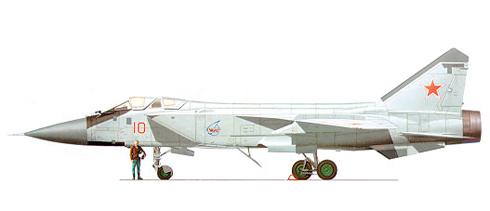 Mikoyan-Gurevich MIG-31 Foxhound, Fuerza Aérea Rusa, Base aérea de Kubinka, 1994.