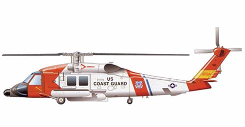 Sikorsky HH-60 J JayHawk, Guarda Costas de los Estados Unidos, helicóptero de busqueda y rescate.