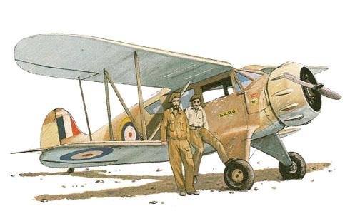 Avión WACO ZGC-7, Sección Aérea, LRDG, Egipto, 1942.
