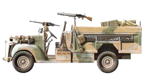 Camión Chevrolet 1533X2 30cwt usado por las patrullas LRDG.