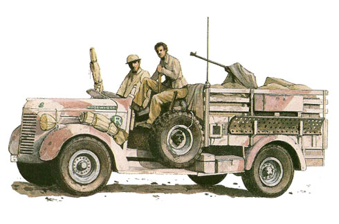 Camión Chevrolet WB30cwt 'Rotowhero', Patrulla R, LRDG, Egipto, 1941.