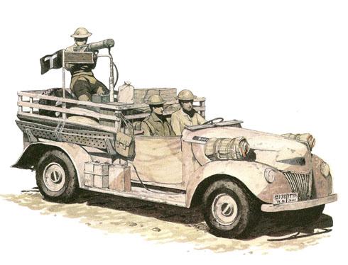 Camión Ford 01 V8 15 cwt, Patrulla T, LRDG, Libia, 1941.