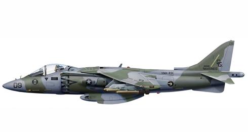 McDonnell Douglas AV-8B Harrier II, VMA-231, Base Naval King Abdul Aziz, 1991.