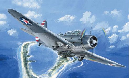 Douglas TBD-1 Devastator, en algún lugar del Pacífico, 1942.