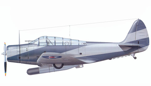 Douglas TBD-1 Devastator, VT-3, NAS North Island, San Diego, California, 1940.