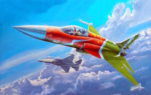 Chengdu-PAC JF-17 Thunder, prototipo con los colores conmemorativos, Fuerza Aérea de Pakistán, 2007.