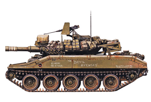 M551 Sheridan, 1-11º Caballería Acorazada 'Blackhorse', Bien Hoa, Vietnam, 1969.