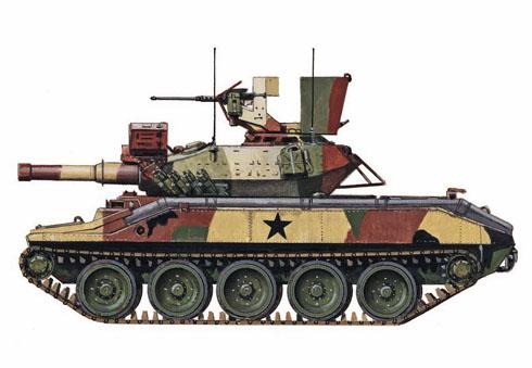 M551 Sheridan, 2º de Caballería Acorazada, 7º Ejército, Alemania, 1974.