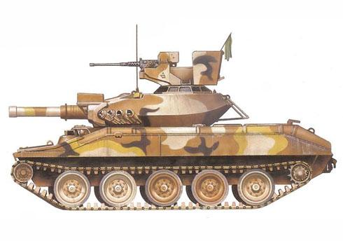M551 Sheridan perteneciente al 116º Regimiento caballería Acorazado, 1er. Escuadrón, Guardia Nacional de Idaho, 1972.