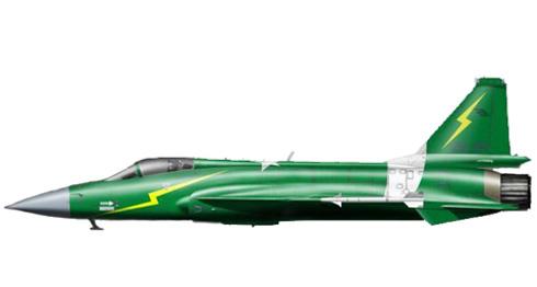 PAC JF-17 Thunder, con los colores de la bandera nacional, Fuerza Aérea de Pakistán,  Islamabad, Pakistán.