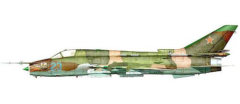 Sukhoi Su-17 Fitter M4, Fuerza Aérea de la URSS, Afganistán, 1988.