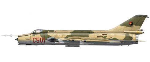 Sukhoi Su-20 Fitter C, Fuerza Aérea de Angola, 1981.