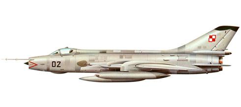 Sukhoi Su-20 Fitter C, Fuerza Aérea de Polonia, 1974.