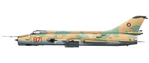 Sukhoi Su-20 Fitter M, Fuerza Aérea de Afganistán, 1989.